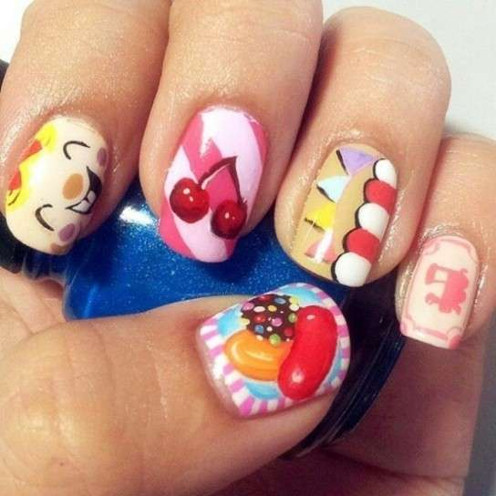 Nail art di Candy Crush