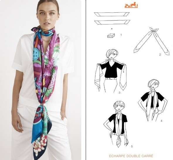 Annodare la sciarpa: The Boho Loop tie
