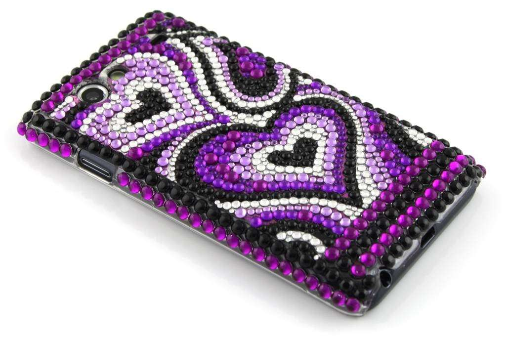Cover per Iphone con cuori di strass