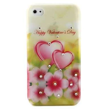 Cover con cuori per Iphone 4