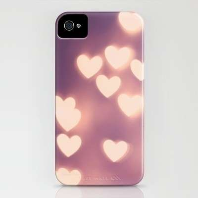 Cover per Iphone con cuori rosa