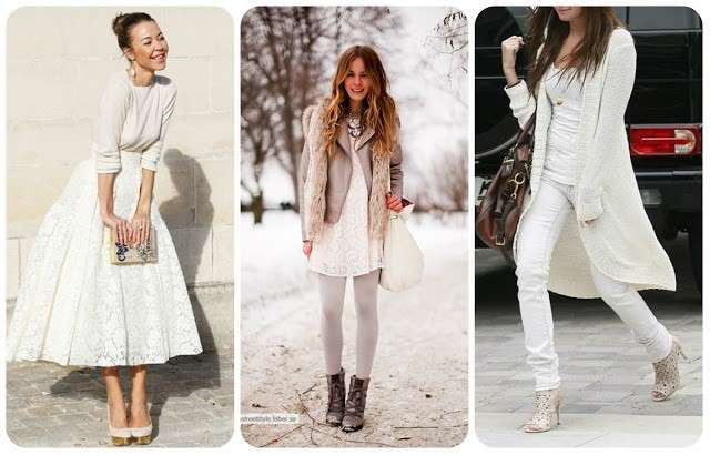 Look total white in inverno