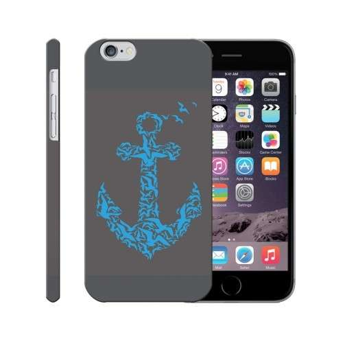 Cover per Iphone con ancora blu