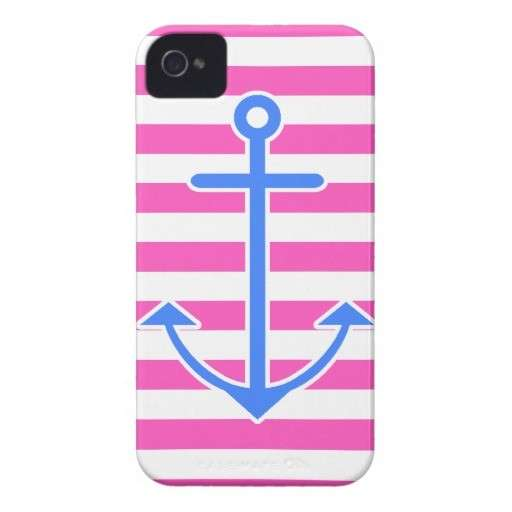 Cover per Iphone rosa con grande ancora