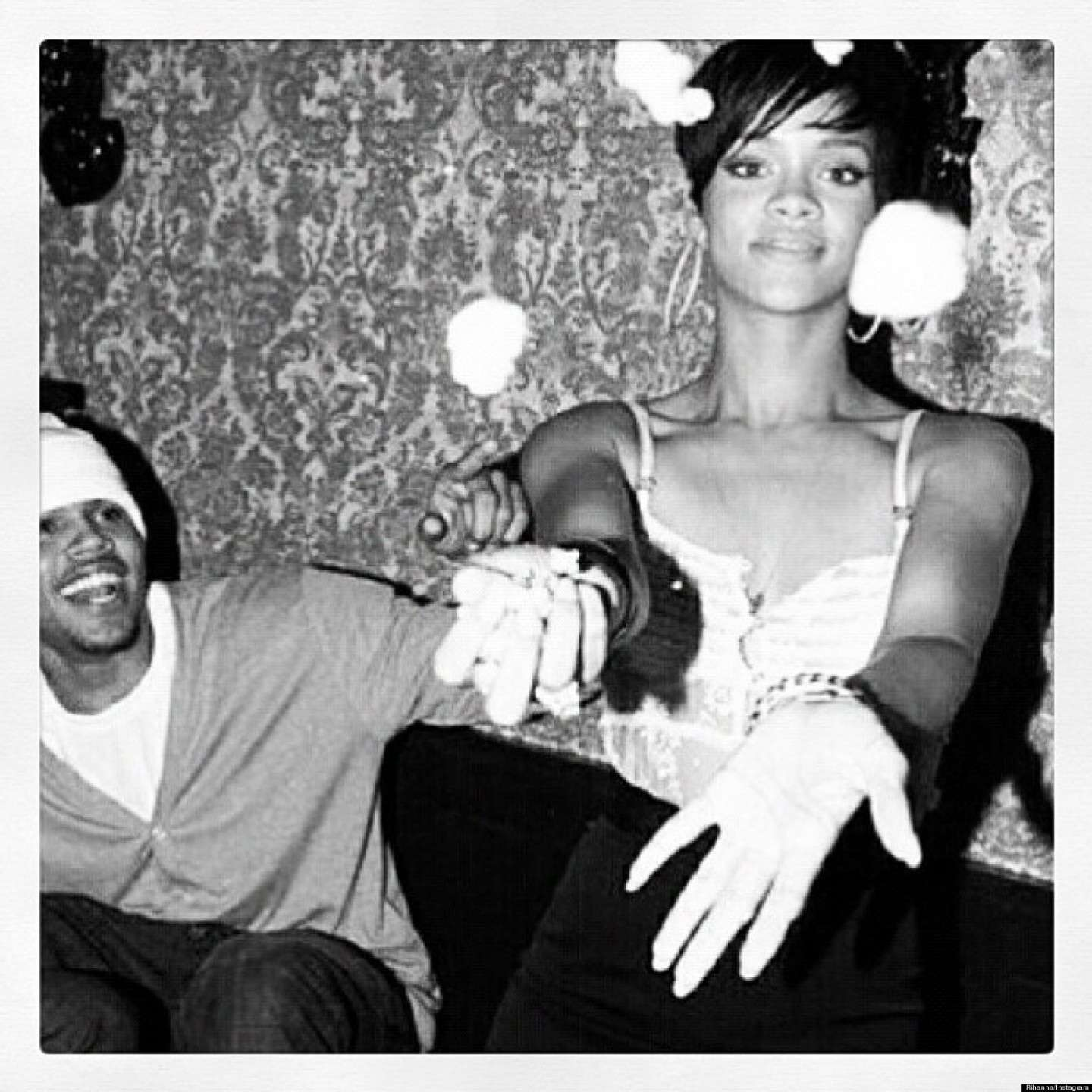 Rihanna e Chris Brown al compleanno