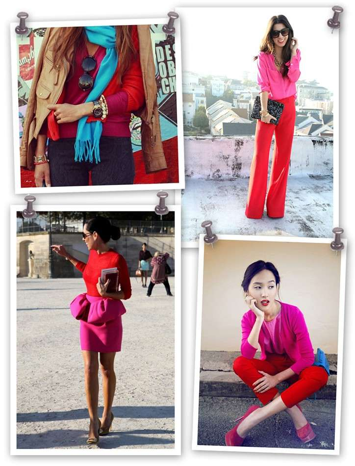 Idee di look pink and red