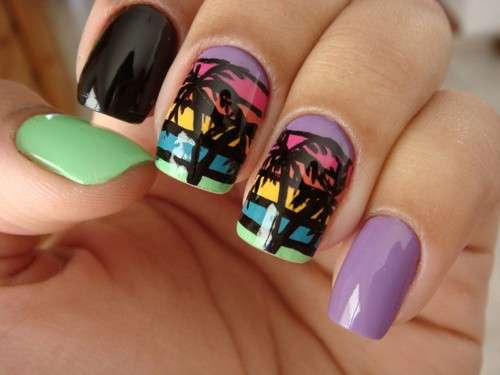 Nail art a righe originale