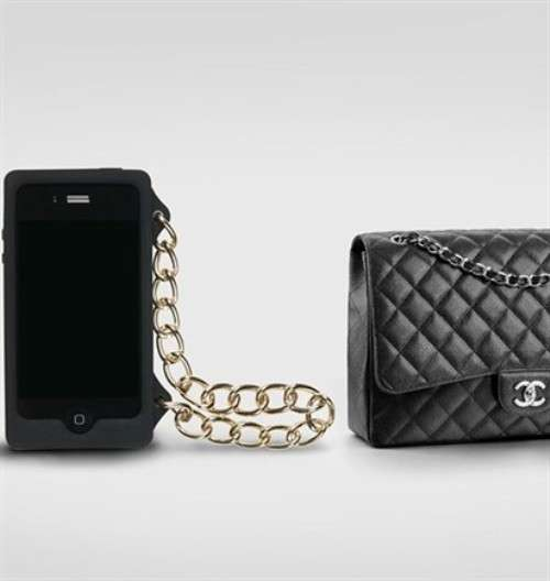 Cover con catenella Chanel nero