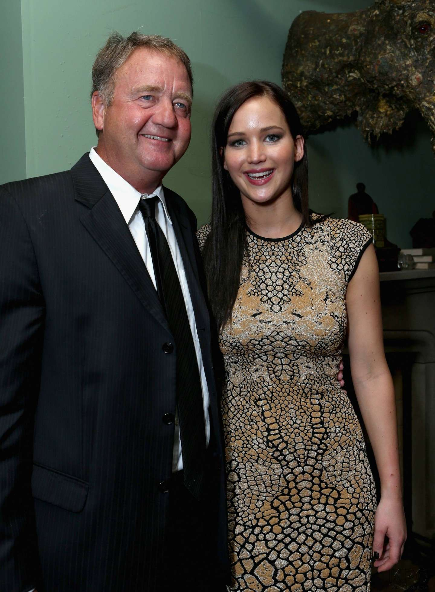 Jennifer Lawrence con il padre