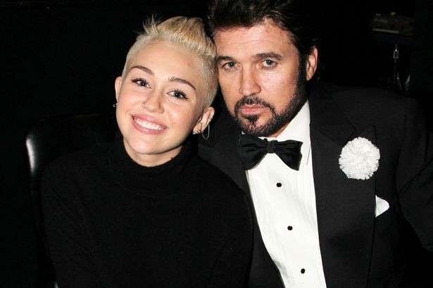 Miley Cyrus col padre Billy Rey
