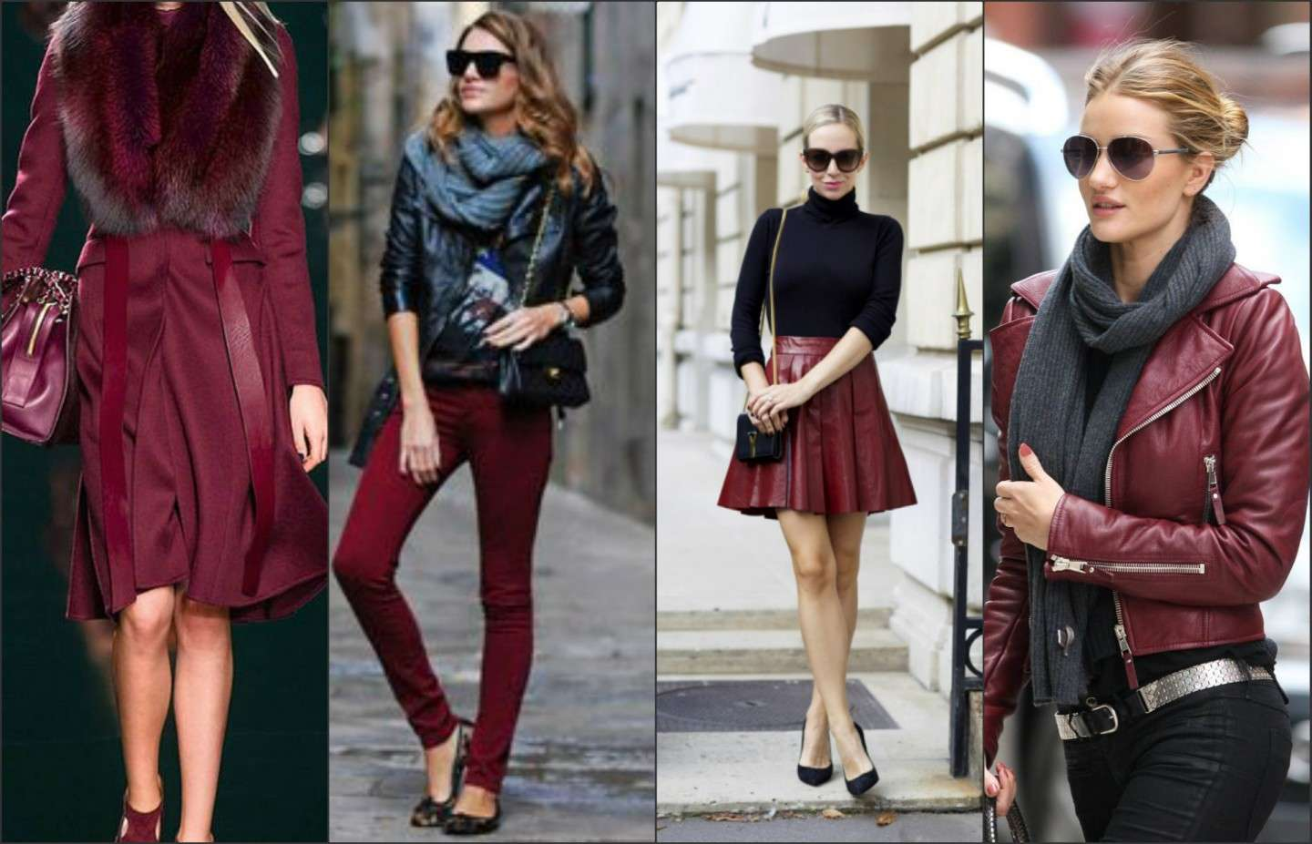Outfit color Marsala