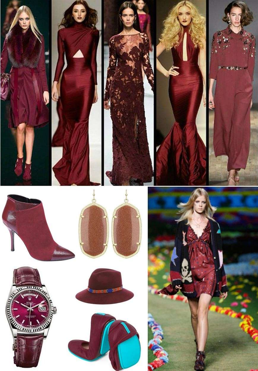 Outfit e look color Marsala