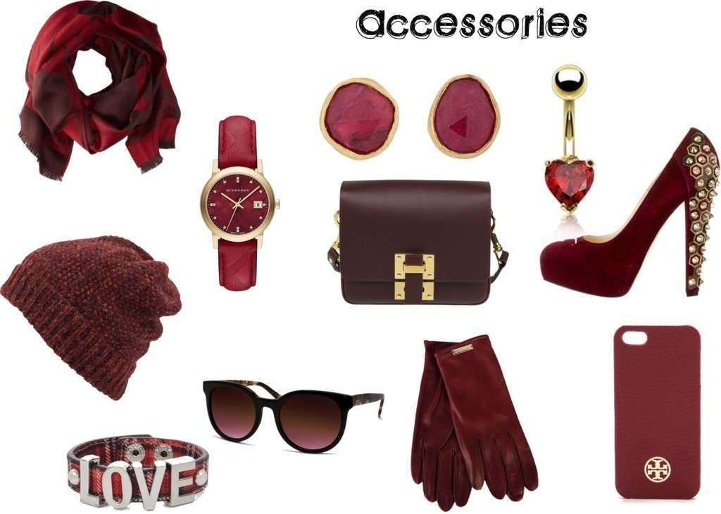 Qualche accessorio color Marsala