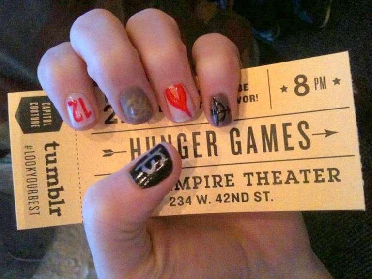 Nail art di Hunger Games, come farla