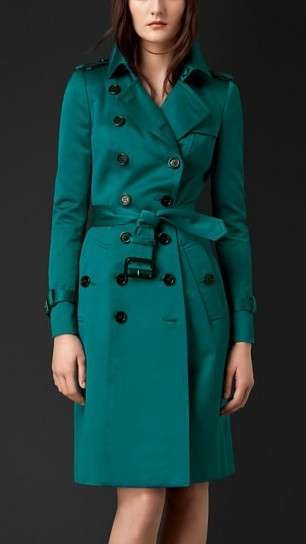 Trench verde di Burberry