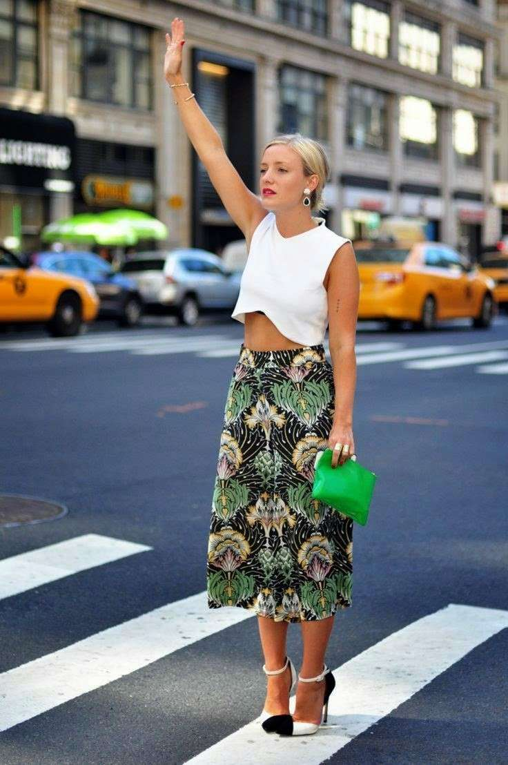 Culottes pants con crop top