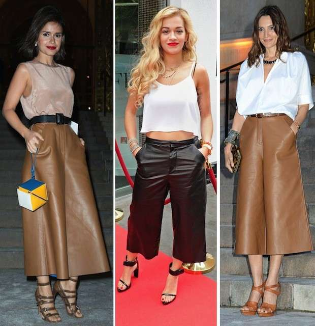 Le star indossano i culottes pants