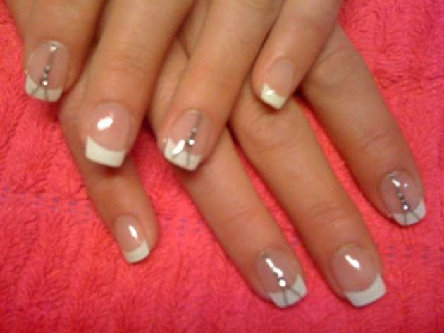 French manicure con zip