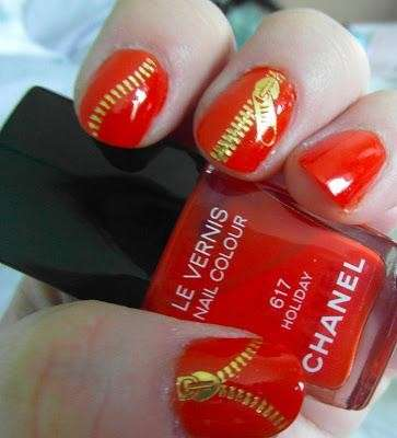 Zipper nails rosse