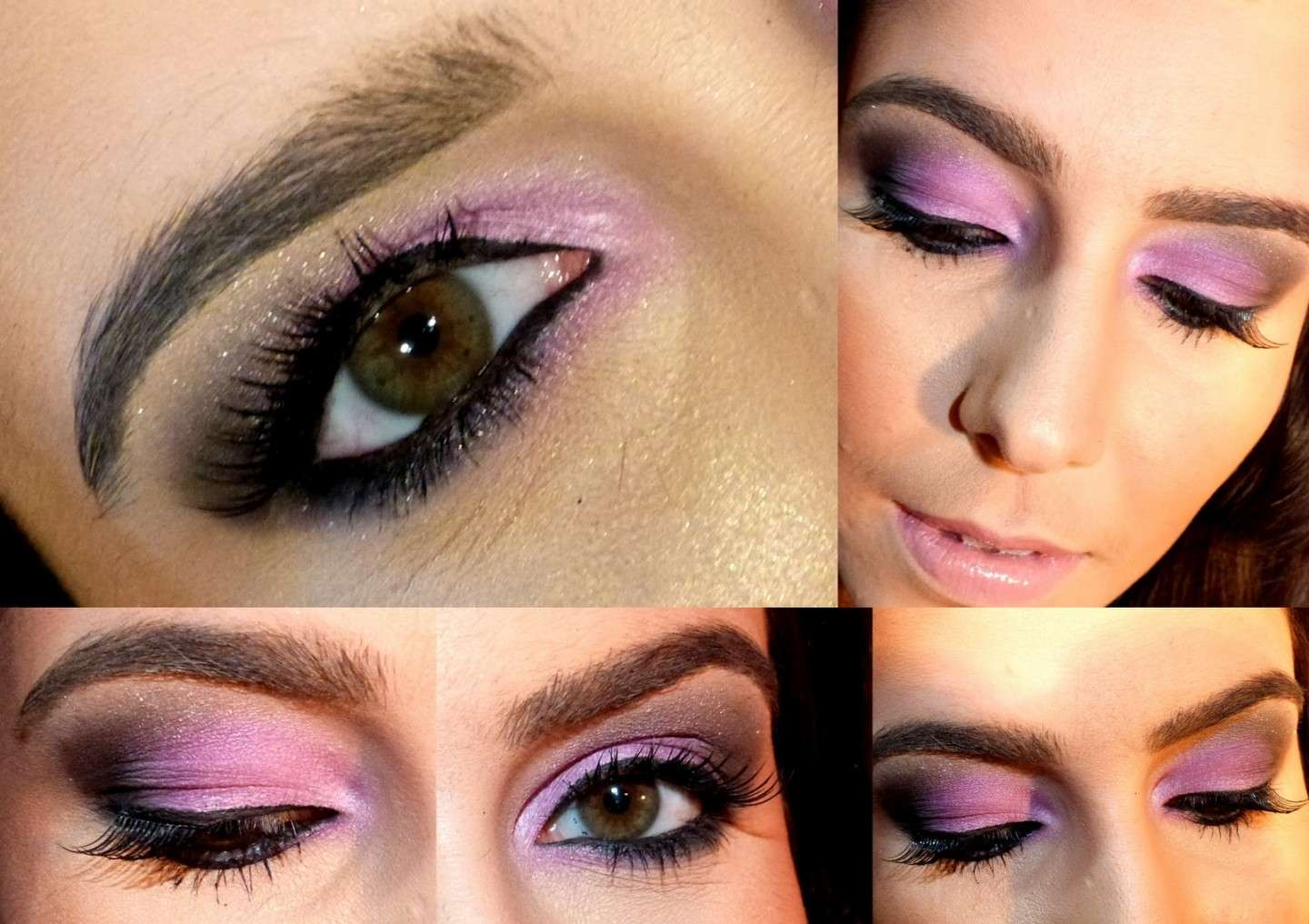 Makeup rosa con brillantini