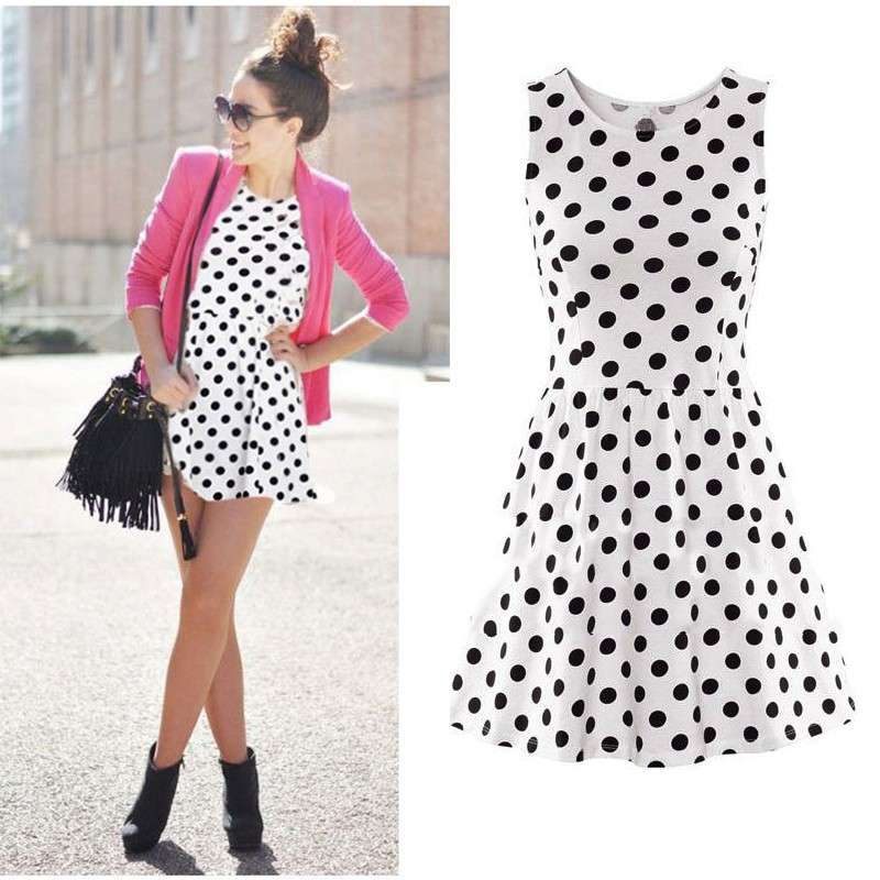 Look casual con pois