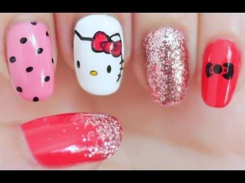 Come fare la nail art di Hello Kitty