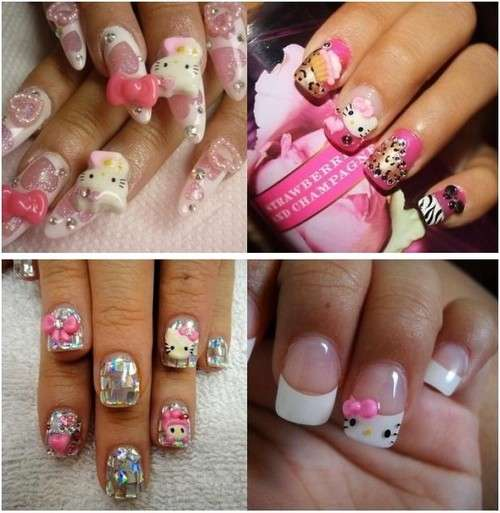 Nail art di Hello Kitty