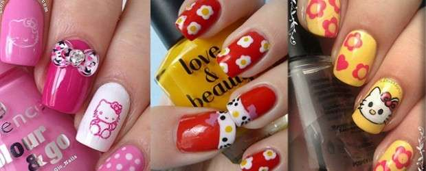 Le nail art di Hello Kitty