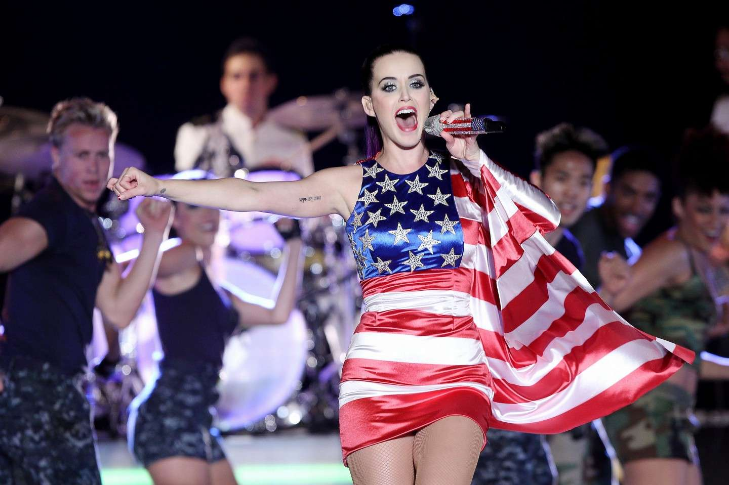 Katy Perry e la american flag