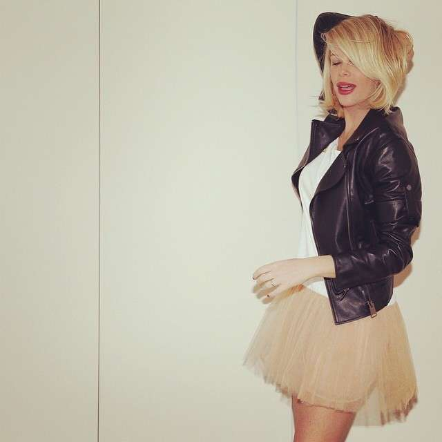 Alessia Marcuzzi con la gonna in tulle