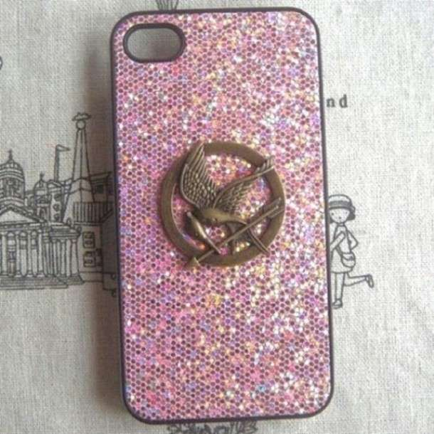 Cover di Hunger Games rosa con brillantini