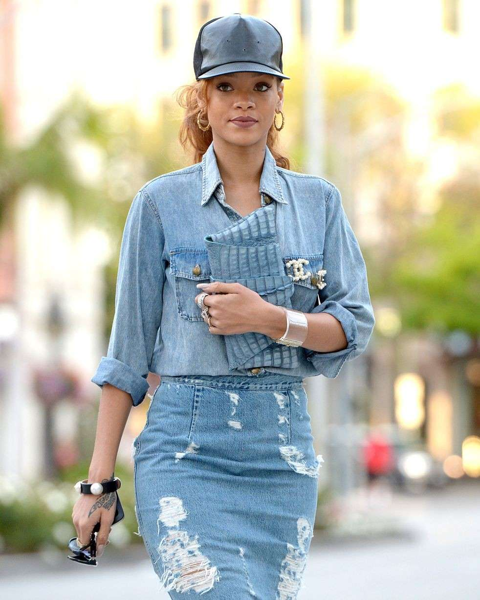 Rihanna e il total denim