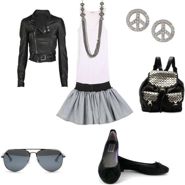 Look rock con ballerine