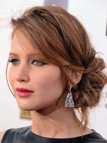 Jennifer Lawrence con chignon