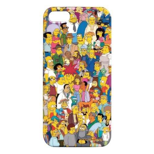 Cover con i personaggi dei Simpson