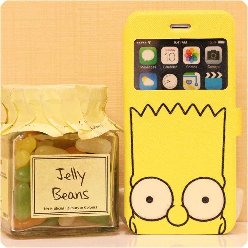 Cover in pelle con Bart Simpson
