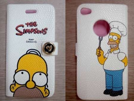 Cover in pelle con Homer Simpson