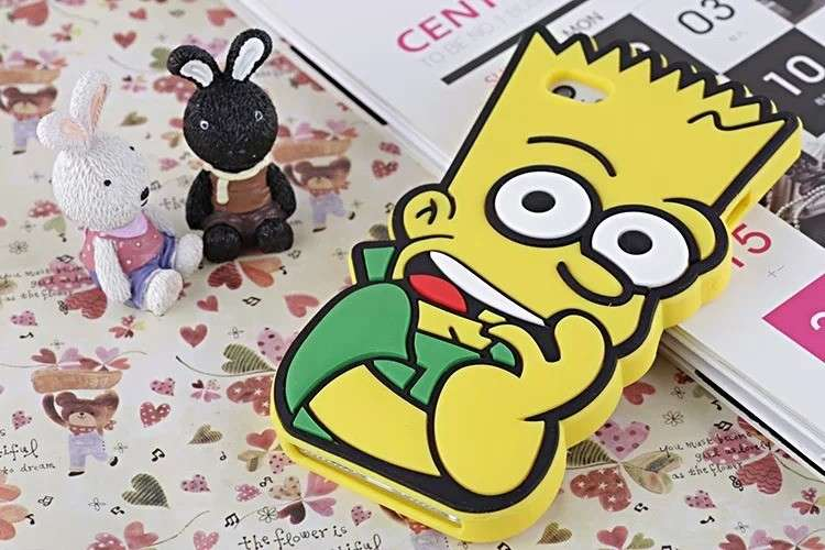 Cover in silicone a forma di Bart