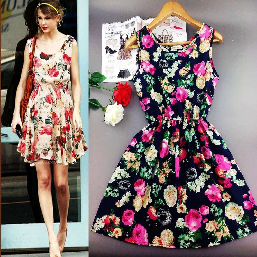 Mini dress a fiori come Taylor Swift