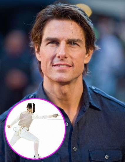 Tom Cruise fa scherma