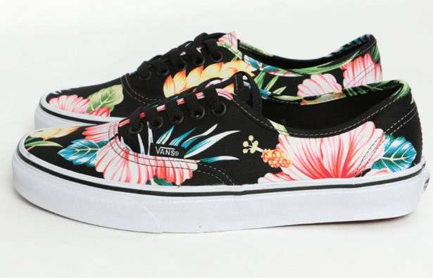 Sneakers Vans hawaii con fiori