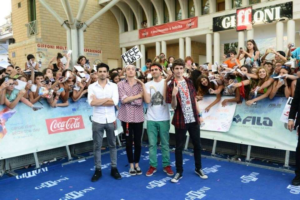 Youtuber sul blue carpet