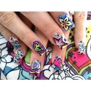 Nail art coloratissima