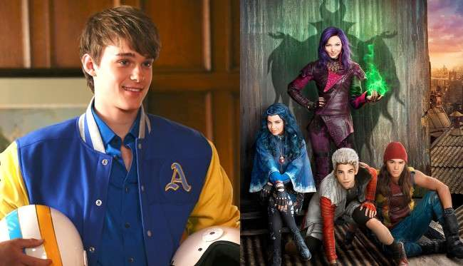 Mitchell Hope e i protagonisti di Descendants