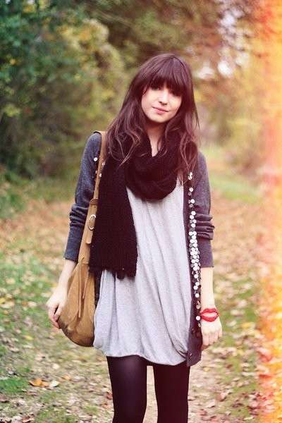 Look autunnale con cardigan