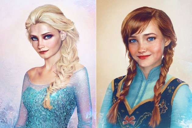 Anne e Elsa, le acconciature