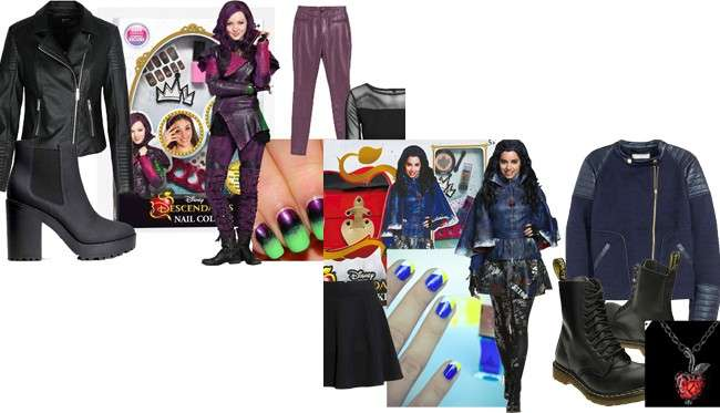 Costume Halloween fai da te: Mal e Evie di Descendants