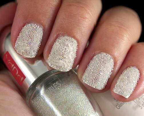 Nail art bubble per unghie corte