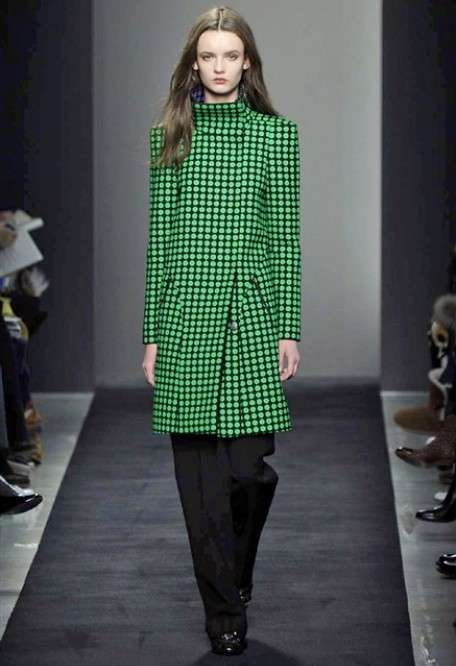 Cappotto in fantasia verde per l