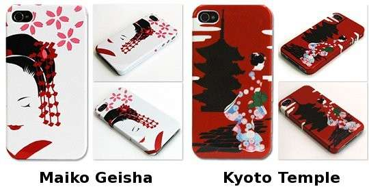 Cover in stile giapponese con geisha